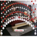 Custom Made Fashion Acrylic Crystal Bead Curtain-Red+Clear