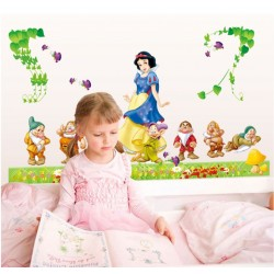 Removable Wall Sticker-Snow White With Gnomes