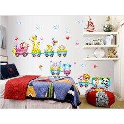 Removable Wall Sticker-Animals Train