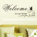 Removable Wall Sticker-Welcome To Our Home