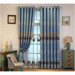 Custom Made Luxurious Curtains Blackout+Sheer