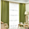 Green Custom Made Curtains Blackout+Sheer