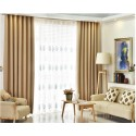 Light Brown Custom Made Curtains Blackout+Sheer