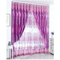 Classical Double Layers Curtains With Jacquard Weaves Design Custom Made