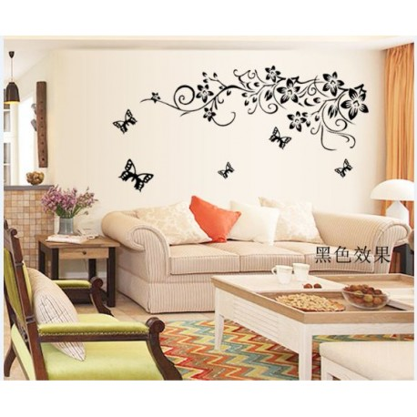 Removable Wall Sticker-Pink Camellia Flowers