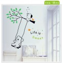 Removable Wall Sticker-Bears Swing on the tree