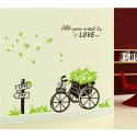 Removable Wall Sticker-Basket with Bicycle