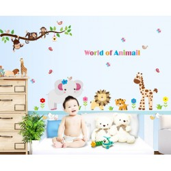 Removable Wall Sticker-World of Animals