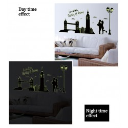 Glow In The Dark London City of Dreams Wall Stickers