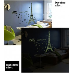 Glow In The Dark Loves In Paris Wall Stickers