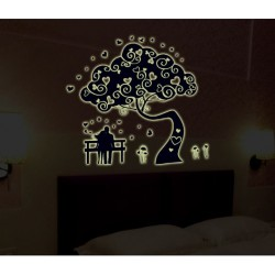 Glow In The Dark Lovers tree Wall Stickers