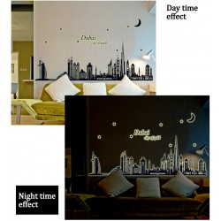 Glow In The Dark Dubai City Of Gold Wall Stickers