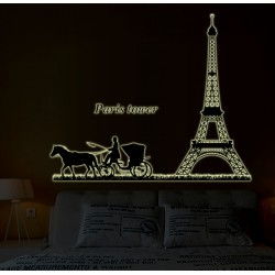 Glow In The Dark Paris Tower Wall Stickers