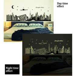 Glow In The Dark Shanghai Blues Wall Stickers