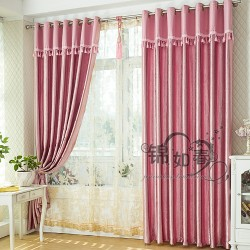 Modern Double Layers Curtains Custom Made